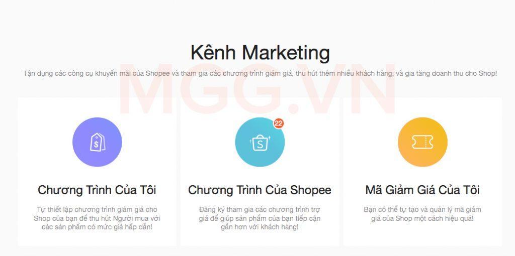 Kênh Marketing trên Shopee
