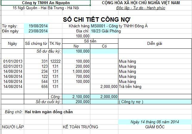 Ưu điểm quản lý công nợ trên Excel
