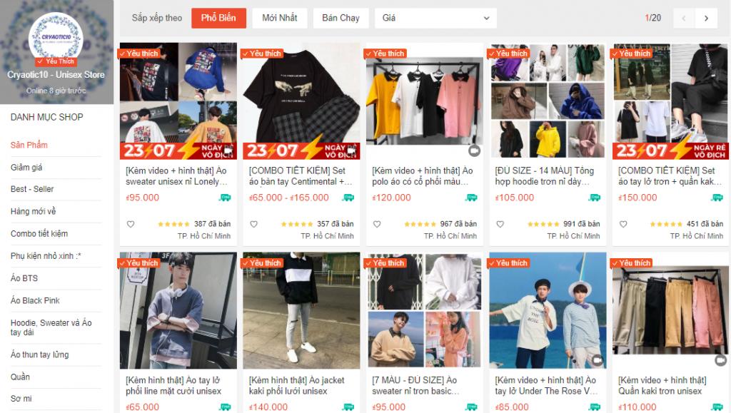 Top cac shop thoi trang phong cach Unisex uy tin tai Shopee 1024x579 1 1