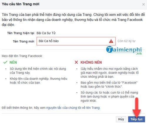 huong dan cach doi ten fanpages facebook 6