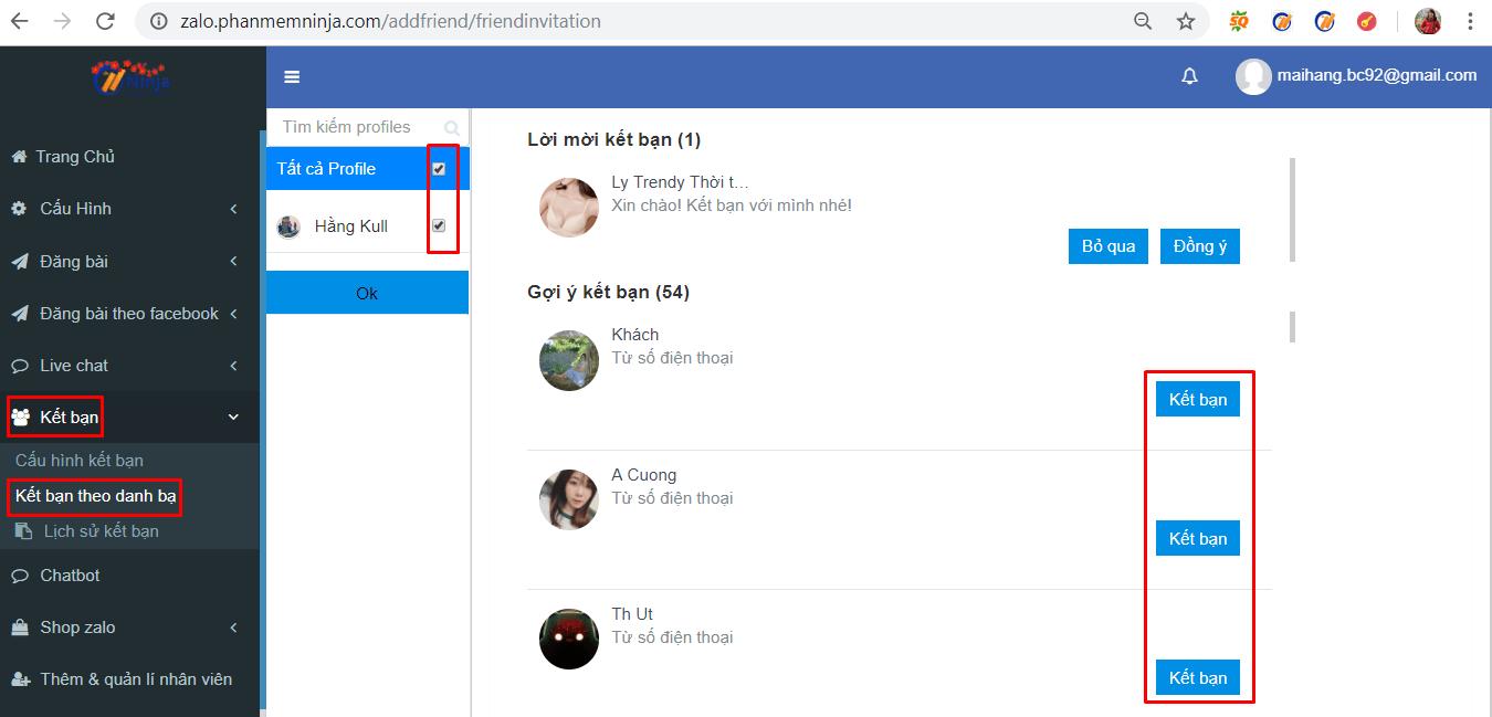 ket ban tu dong2 Hướng dẫn kết bạn zalo tự động bằng phần mềm kết bạn zalo Ninja Zalo