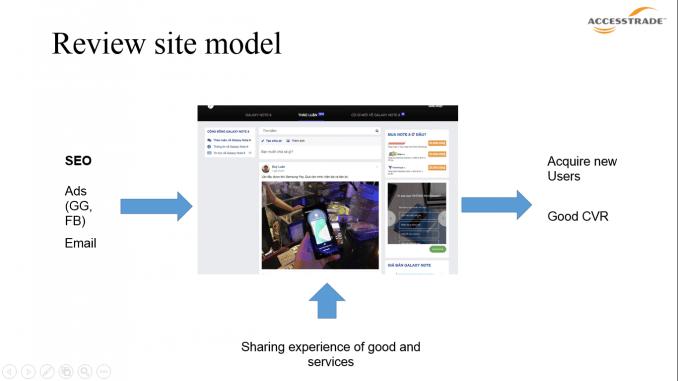 Các website về review thường tập chung vào những sở thích riêng biệt của một nhóm người dùng