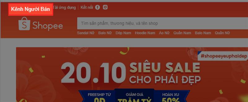 Cách tạo tài khoản mở gian hàng trên Shopee