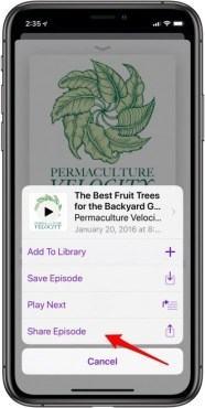Cách chia sẻ Podcast trên iphone