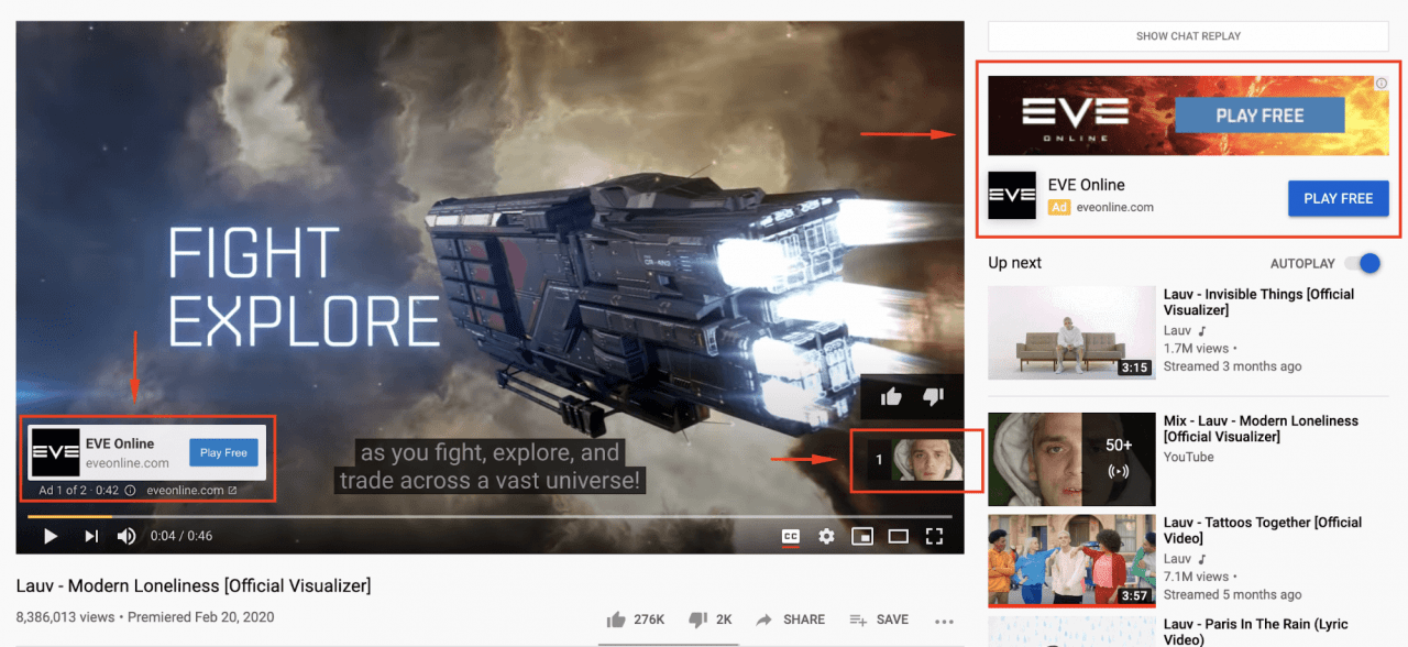 YouTube Skippable in-stream Ads