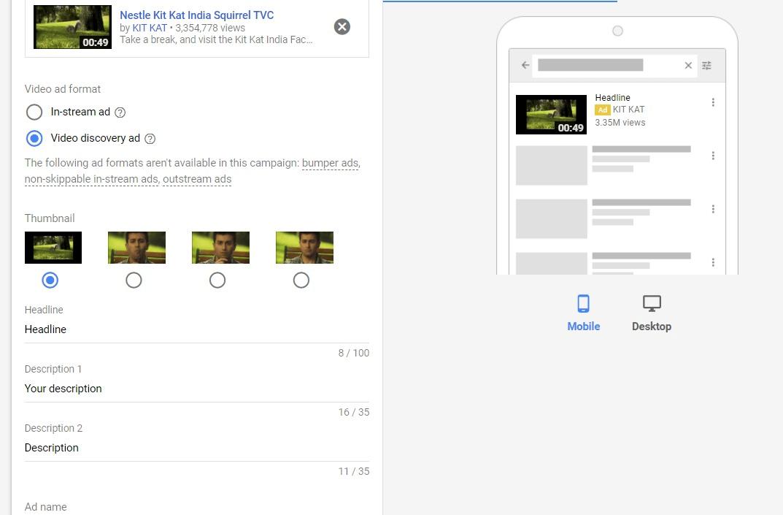 YouTube Video Discovery Ads Setup