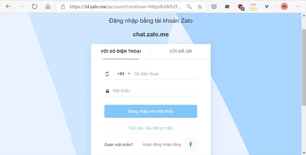 Đăng nhập Zalo trên web