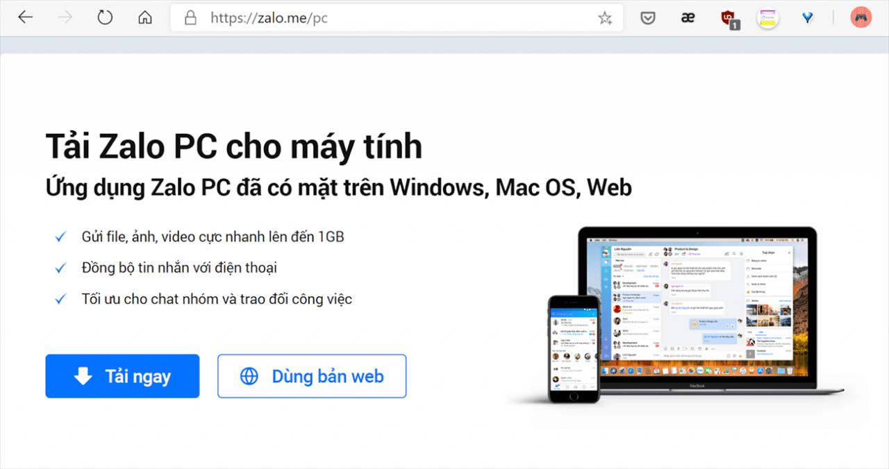 Tải Zalo máy tính