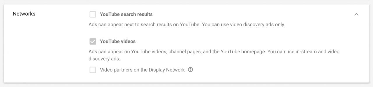 Chọn YouTube Ads Networks