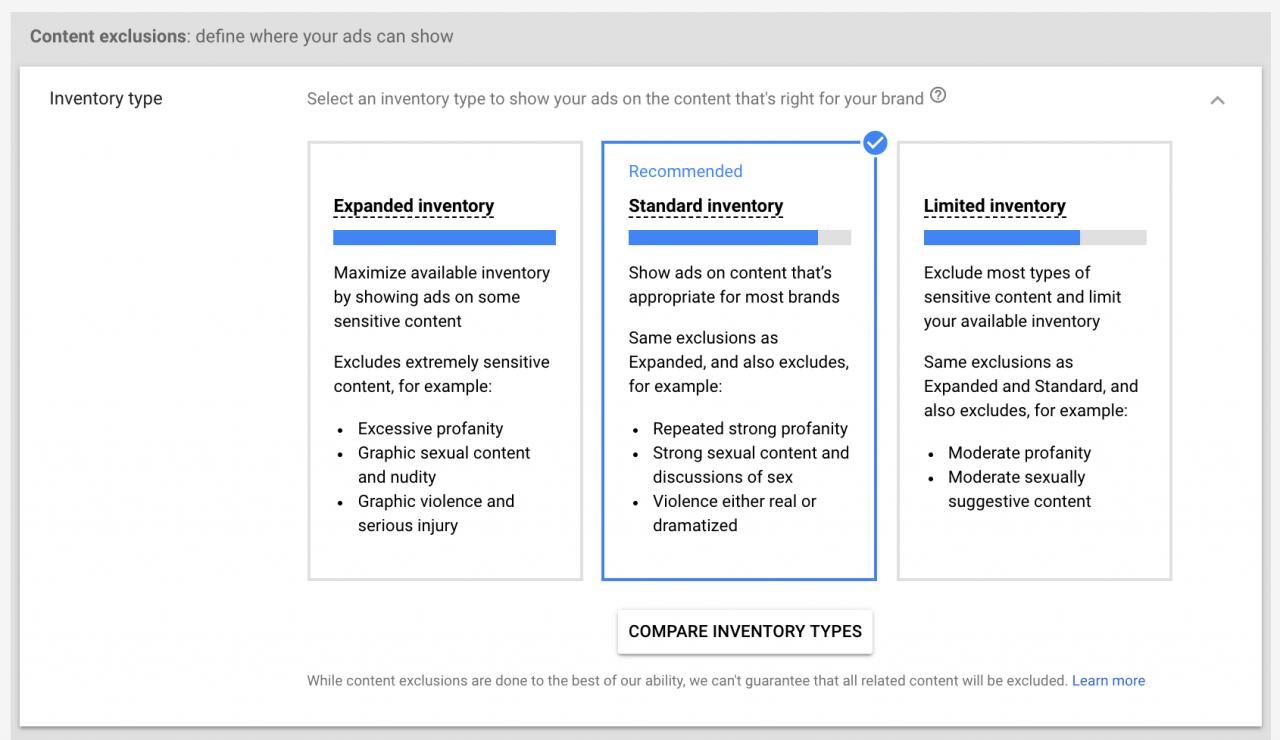 Chọn cách hiển thị cho video quảng cáo Google