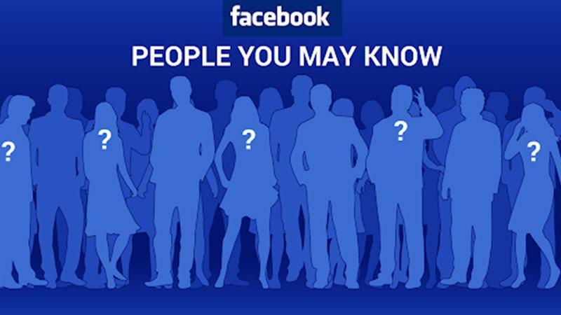 Hình ảnh mô tả tính năng gợi ý kết bạn trên facebook