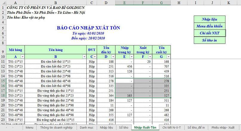 Kỹ năng sử dụng Excel