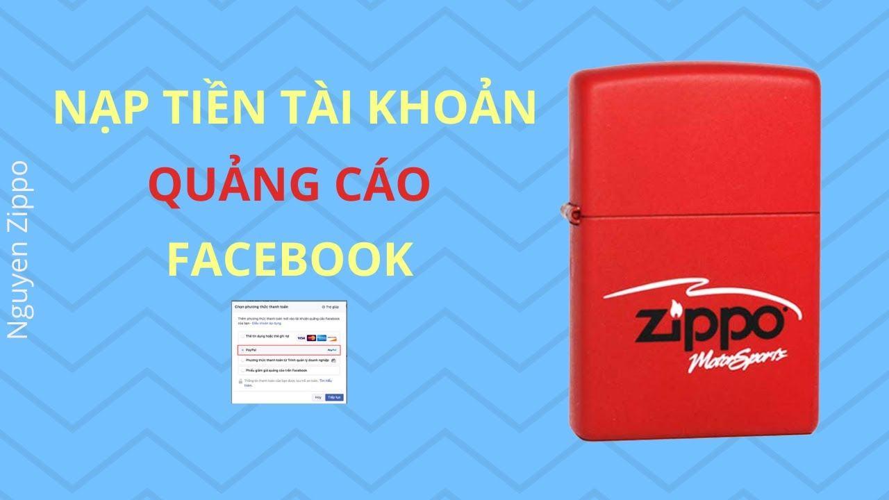 Cách nạp tiền vào tài khoản quảng cáo Facebook - YouTube