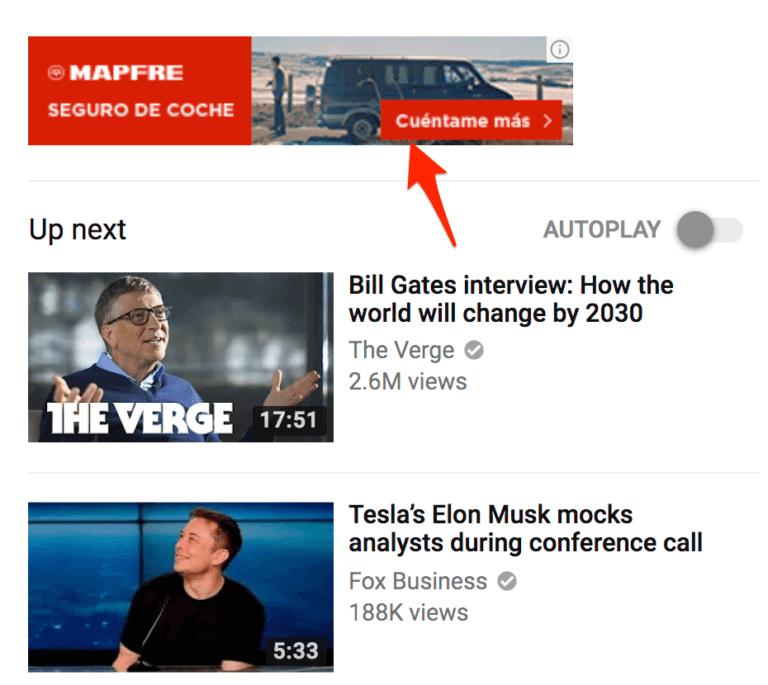 Quảng cáo YouTube hiển thị