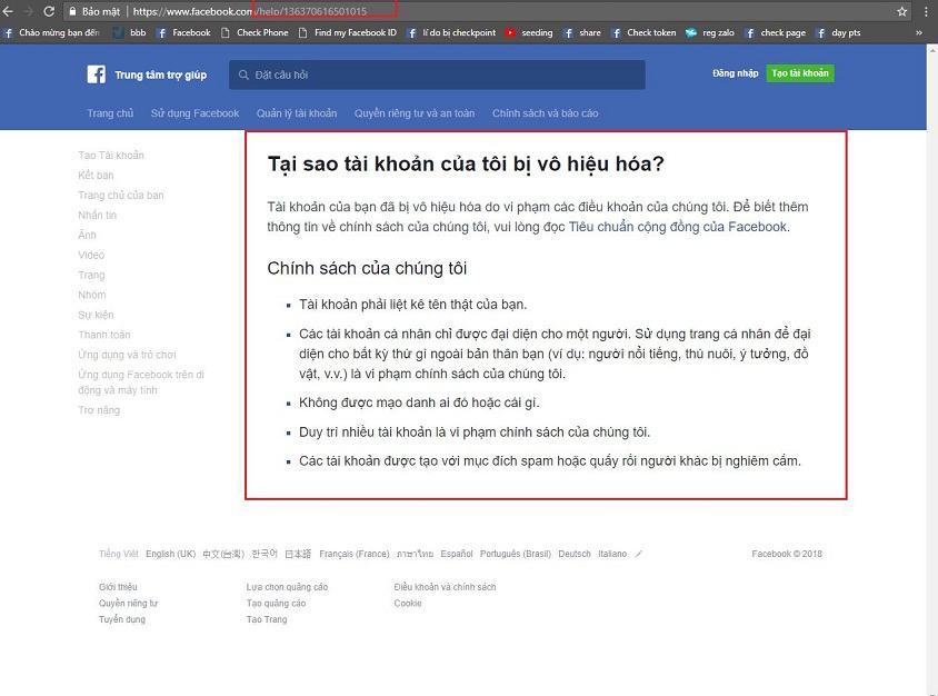 Image result for Cách lấy lại tài khoản Facebook bị report