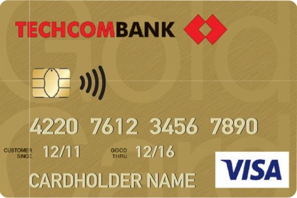 Image result for thẻ visa techcombank