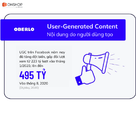 Xu hướng Facebook thứ 9: UGC (User-Generated Content)