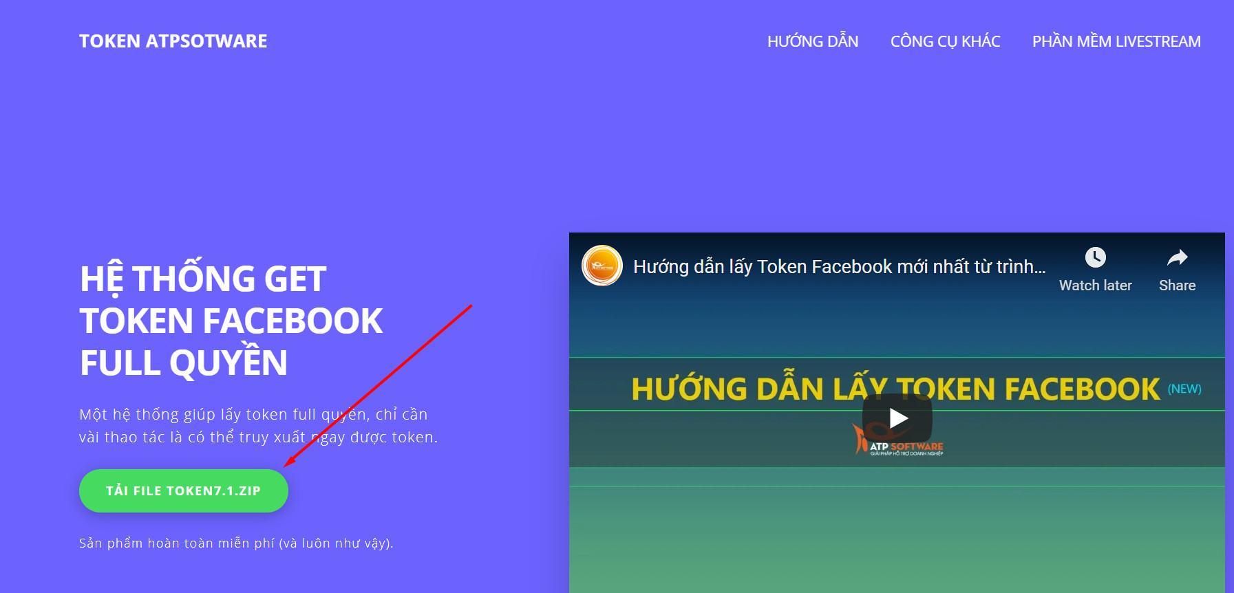 Công cụ lấy Token Facebook | ATP