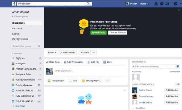 Facebook group 7 1