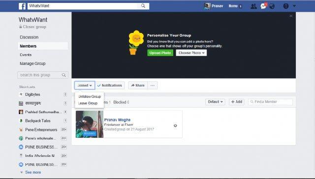 Facebook group 9 1