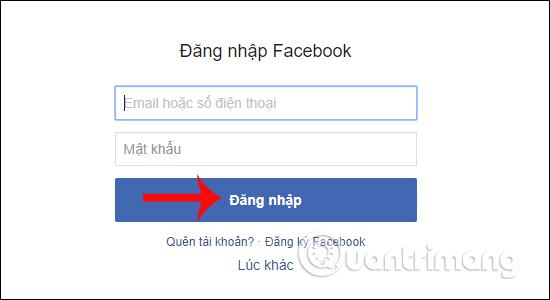Nhập tài khoản Facebook