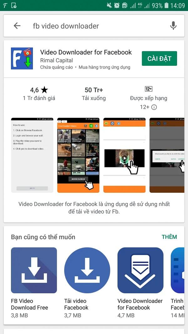 Cách tải video livestream trên Facebook về điện thoại