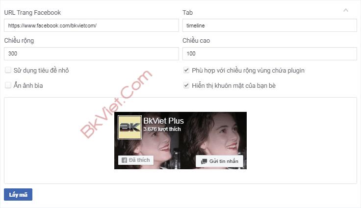 cách chèn fanpage vào website