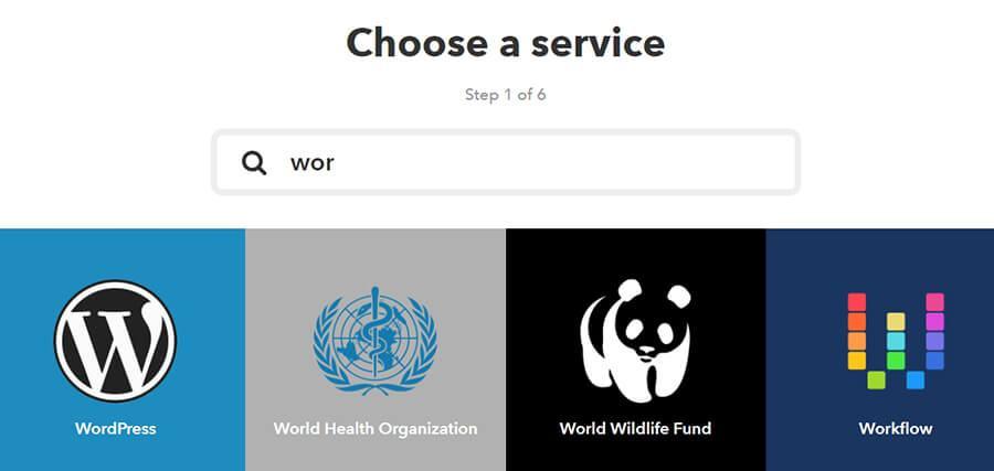 chọn nút WordPress