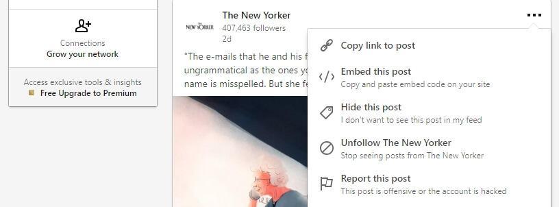Nhúng bài viết LinkedIn.