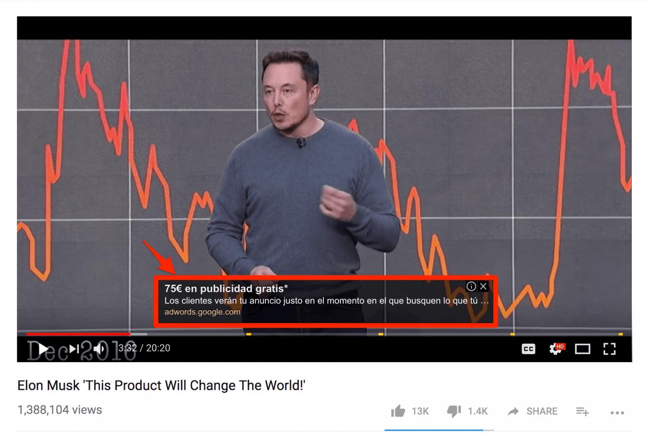 Quảng cáo YouTube lớp phủ