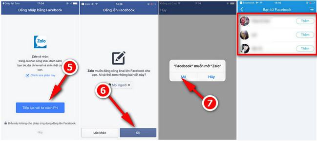 tim ban zalo bang facebook