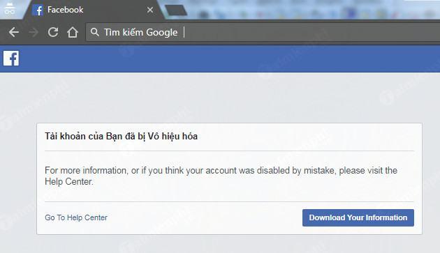 mở khóa Facebook ads bị vô hiệu hóa, Disable