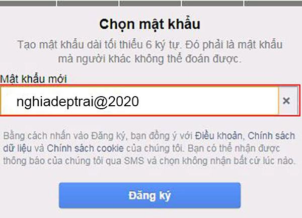 Facebook khuyên bạn dùng mật khẩu mạnh để tạo account