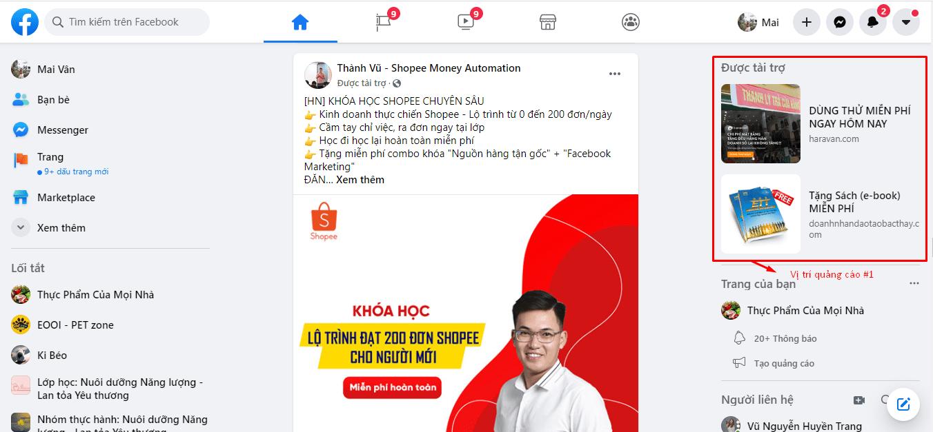 cách chạy quảng cáo facebook miễn phí
