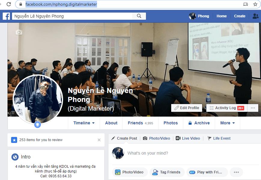 cach lay id facebook ca nhan