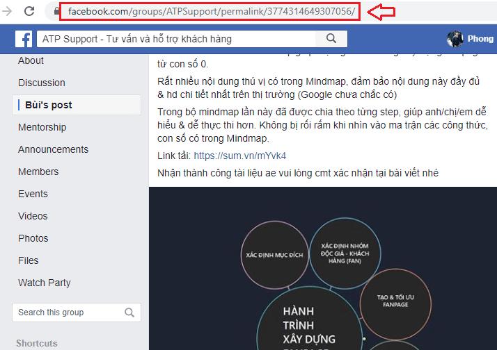 copy link bai viet can lay uid