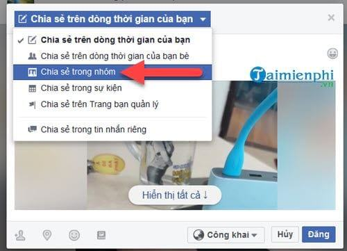 huong dan share LiveStream vao group facebook 5