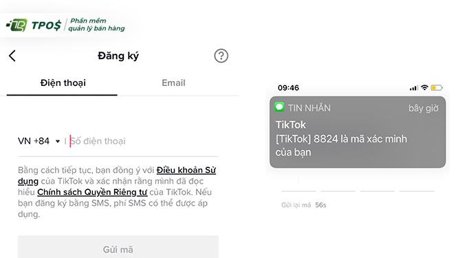 Đăng ký tài khoản Tiktok trên điện thoại