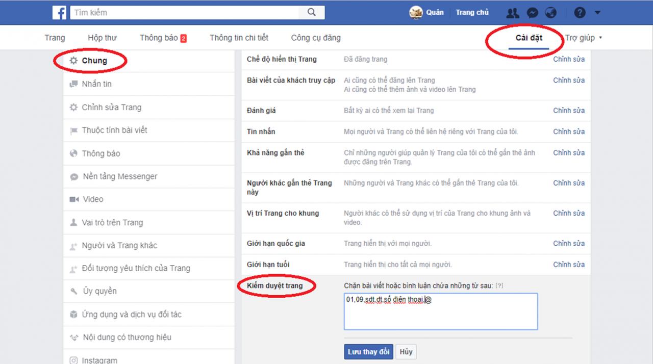 Hướng dẫn quản lý bình luận trên Facebook