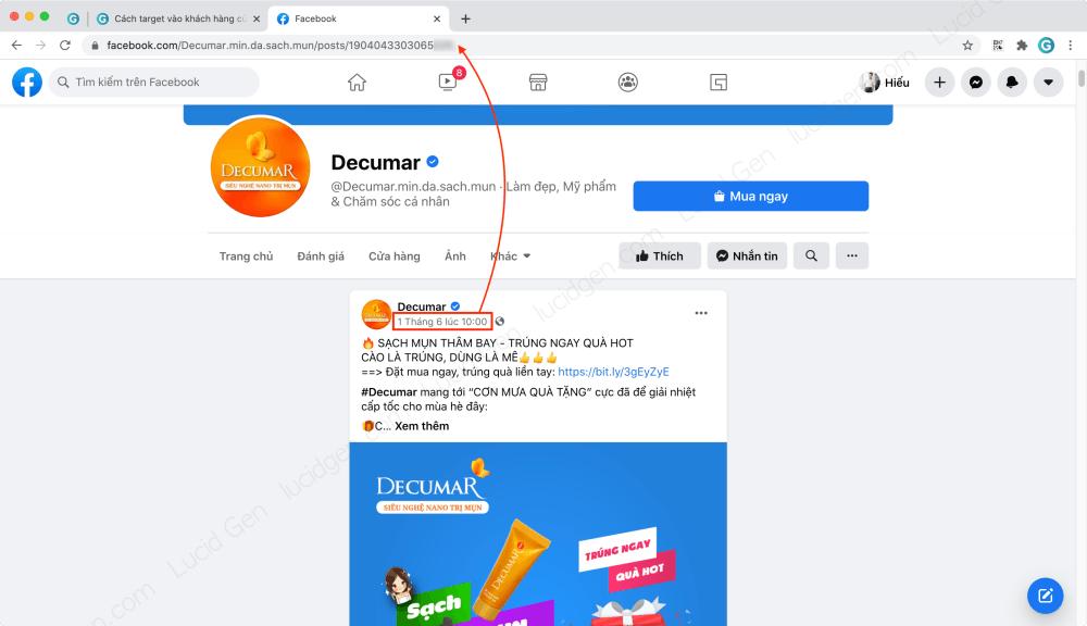 Target vào khách hàng của đối thủ trên Faceboo Ads - Nhấp vào ngày đăng sẽ lấy được link bài viết