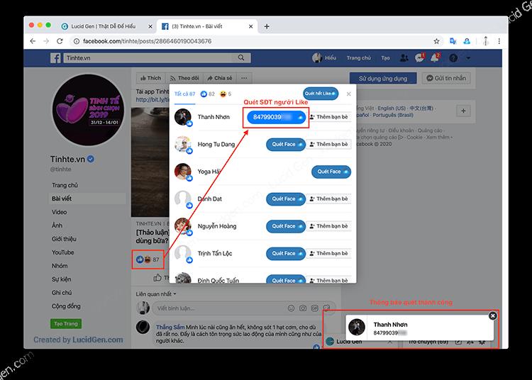 Lấy tìm số điện thoại từ trên Facebook & Lấy tìm SĐT trên Facebook - Lấy số điện thoại những người đã Like bài viết (tool lấy số điện thoại trên facebook - lấy số điện thoại từ facebook - tìm số điện thoại trên facebook - xem số điện thoại qua nick facebook)