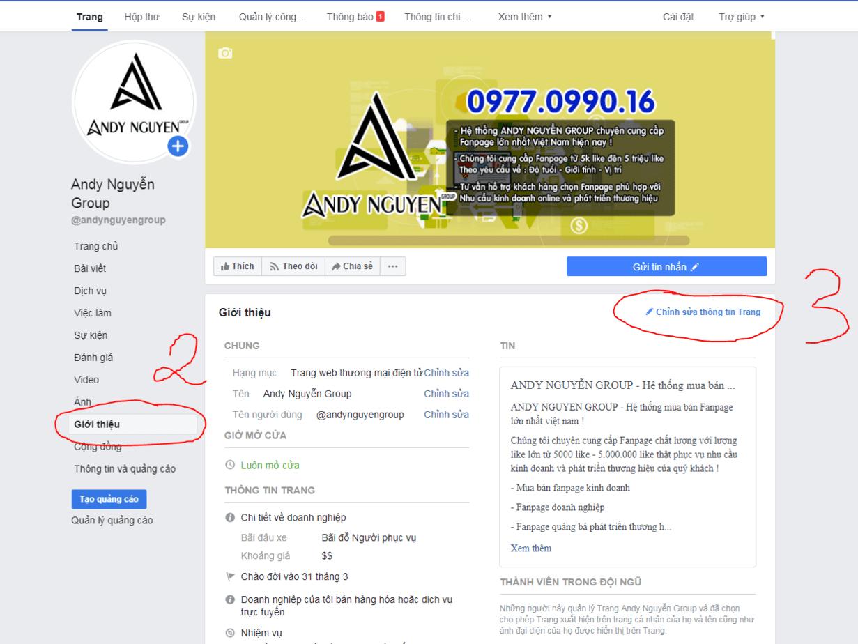cách thêm bản đồ vào fanpage facebook