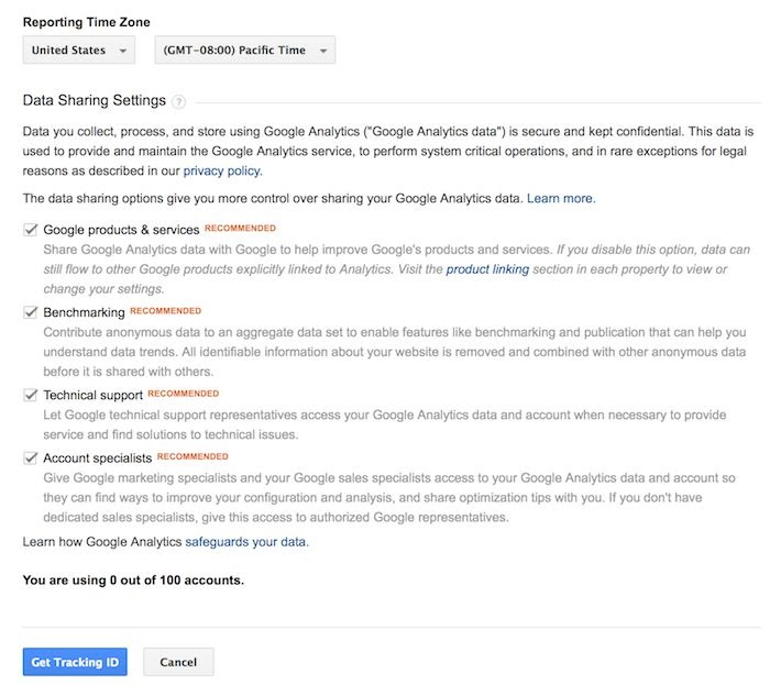 cài đặt chia sẻ google analytics - cách sử dụng google analytics