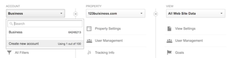 thêm tài khoản Google Analytics