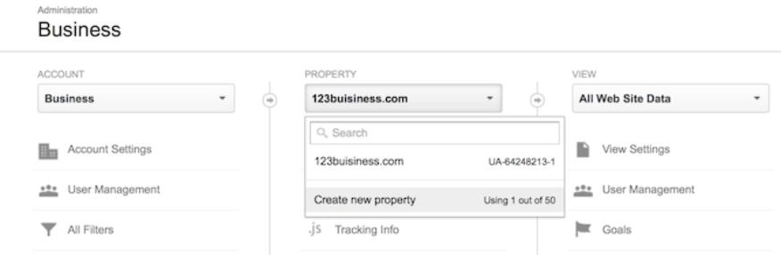 thêm một website mới vào tài khoản Google Analytics