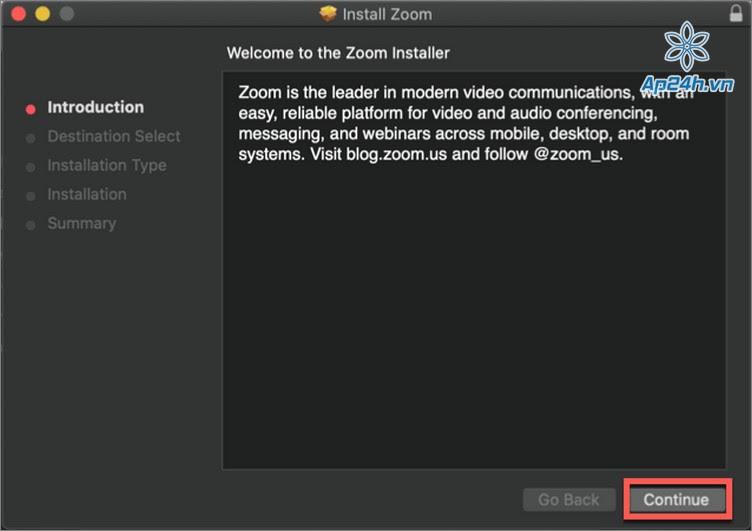 Tai Zoom tren may tinh Macbook