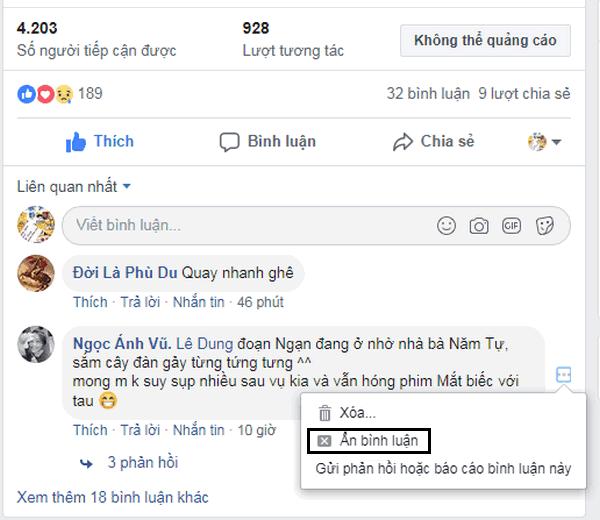 quan ly binh luan facebook