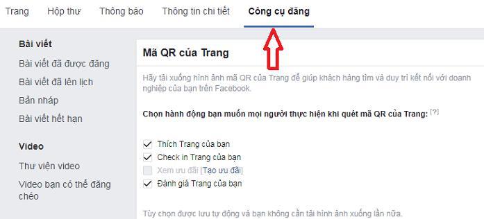 hướng dẫn tạo mã QR của Facebook 1