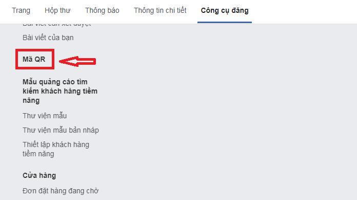 hướng dẫn tạo mã QR của Facebook 2