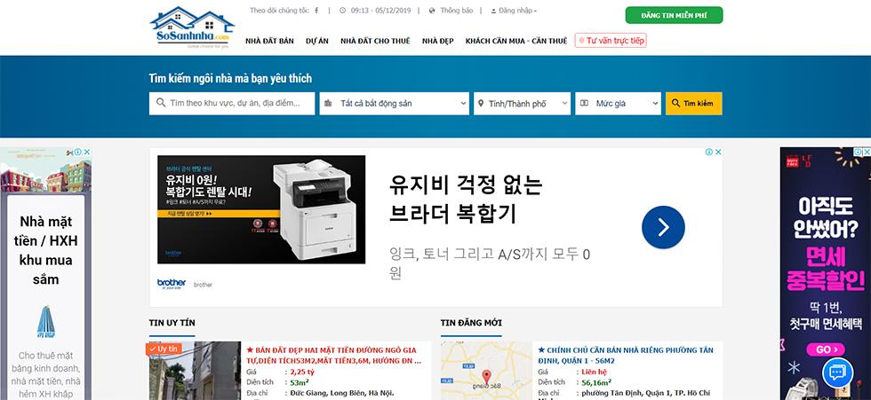 Trang đăng tin bất động sản -Sosanhnha.com